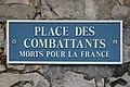 Place des Combattants-morts-pour-la-France Fontainebleau plaque de rue.jpg