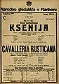 Plakat za predstavi Ksenija in Cavalleria Rusticana v Narodnem gledališču v Mariboru 7. marca 1925.jpg