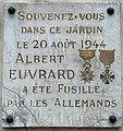Plaque Fusillé Albert Euvrard Avenue Daumesnil - Saint-Mandé (FR94) - 2020-10-16 - 2.jpg