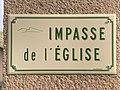 Plaque Impasse Église - Solutré-Pouilly (FR71) - 2021-03-02 - 1.jpg