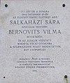 Plaque to Sára Salkaházi and Vilma Bernovits, 2019 Ferencváros.jpg