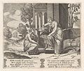 Plate 19- Ceres at right, leaning on a pedestal, refusing to assist Psyche, from the Story of Cupid and Psyche as told by Apuleius MET DP862825.jpg