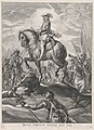 Plate 8- Ferdinand on horseback crossing the Alps; from Guillielmus Becanus's 'Serenissimi Principis Ferdinandi, Hispaniarum Infantis...' MET DP874814.jpg