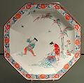 Plate with Shiba Onko Design, c. 1680-1700, Arita, hard-paste porcelain with overglaze enamels - Gardiner Museum, Toronto - DSC00568.JPG