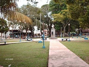 Plaza Bolívar in San Fernando de Atabapo