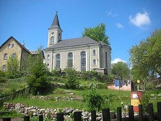 Plesná (Cheb District) - Image: Plesna kirche