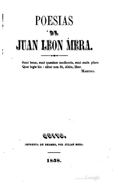 File:Poesias de Juan Leon Mera (1858).djvu