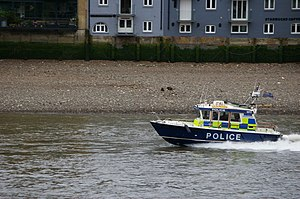 Police boat on River Thames.JPG