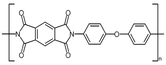 Kapton - Structure of poly-oxydiphenylene-pyromellitimide