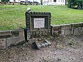 Pomník jubilejního dubu Franze Josefa I. na náměstí Jiřího v Jiřetíně pod Jedlovou.jpg