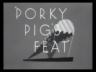 Porky Pig's Feat - Title card
