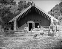 Porourangi meeting house, Waiomataini, c. 1888.jpg