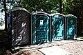 Portable toilets at Easton Lodge Gardens, Little Easton, Essex, England.jpg