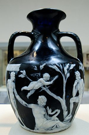 Side A of the Portland Vase. Cameo-glass, prob...