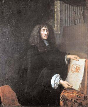 Jean Nocret - Jean Nocret; posthumous portrait by his son, Jean-Charles (1674)