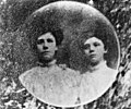 Portrait of two young women believed to have died in the Triangle fire. (5279077819).jpg