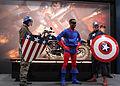 Posing in front of Cap's bike. (9321819138).jpg