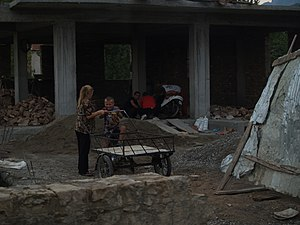 Poor people in Tirana, Albania