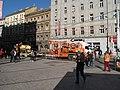 Praha, zastávka I. P. Pavlova, oprava tramvajové trati - stroje.JPG