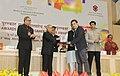 "Pranab Mukherjee presenting the Rajat Kamal Award for Best Educational Film (Including sports) ""Komal"", in Non Feature Films Section to the Producer, Climb Media India Pvt. Ltd., Rep Shri Kireet Khurana.jpg"