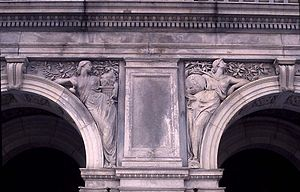 Bela Pratt - Art and Science on the Library of Congress Building, Washington DC, USA