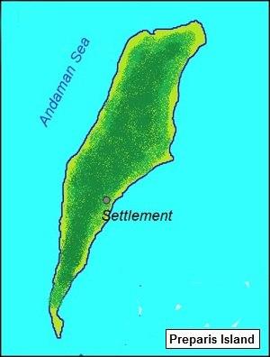 Preparis - Image: Preparis island map