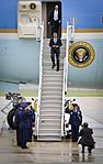 President Barack Obama disembarks Air Force One May 28, 2013, at Joint Base McGuire-Dix-Lakehurst, N.J. Obama traveled to New Jersey to meet with Gov. Chris Christie and to tour areas of the Jersey Shore 130528-F-XQ265-534.jpg