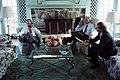 President George H. W. Bush speaks to Egyptian President Hosni Mubarak via telephone.jpg