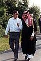 President George H. W. Bush walks with Saudi Arabian Foreign Minister Prince Saud Al-Faisal.jpg