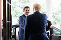 President Trump Meets with the Amir of Qatar (48244350257).jpg