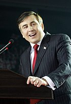 President of Georgia Mikheil Saakashvili in Tbilisi, March 22, 2008