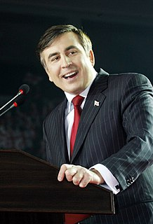 Mikheil Saakashvili Georgian-Ukrainian politician, President of Georgia and Governor of Odessa