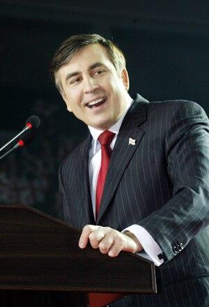 President of Georgia Mikheil Saakashvili in Tbilisi, March 22, 2008