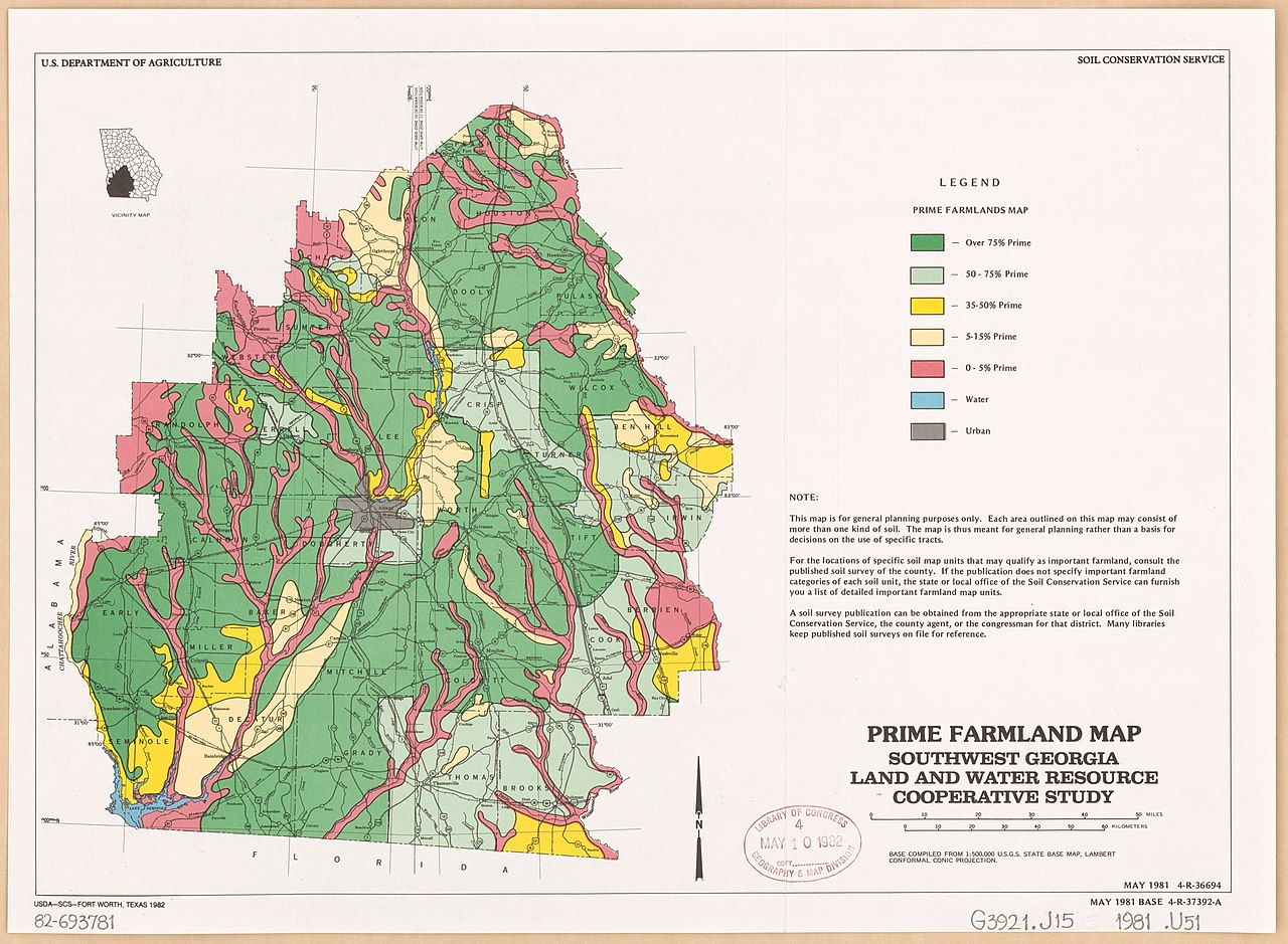 Map Of Southwest Georgia.File Prime Farmland Map Southwest Georgia Land And Water Resource