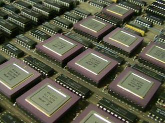 Prime Computer - Part of the CPU board of a Prime minicomputer
