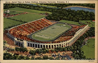 Palmer Stadium - A souvenir postcard of Palmer Stadium in 1914.