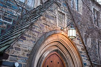 Princeton, New Jersey - A light at the Princeton campus