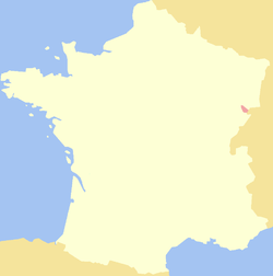 Location of the County of Montbéliard