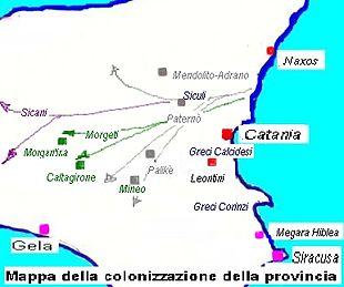 Cartina Sicilia Province.Provincia Di Catania Wikipedia