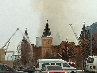 Provo City Center Temple - Fire on December 17, 2010