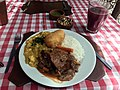 Pumpkin curry and beef stew at Picanteria Nueva Palomino, Arequipa.jpg
