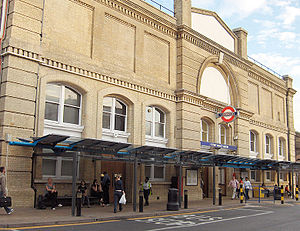 The outside of Putney Bridge Station
