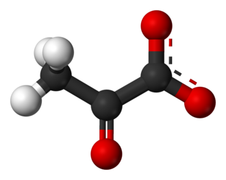 Pyruvic acid - Image: Pyruvate 3D balls