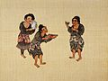 Qilao. Three men from the Qilao ethnic group drinking Wellcome L0031312.jpg