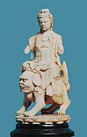 Qing Dynasty Guanyin on lion.jpg