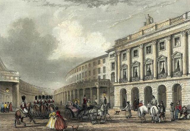 Quadrant, Regent Street engraved by J.Woods after J.Salmon publ 1837 edited