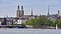 Quaibrücke-Utoquai Zürich - Wasserkirche-Grossmünster-Predigern - Zürichsee - ZSG Helvetia 2015-05-30 17-40-01.JPG