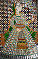 Queen Sculpture-colored glass in white marble, Udaipur City Palace Rajasthan.jpg