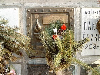 Mátyás Rákosi - Rakosi's grave in Budapest