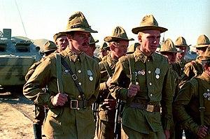 Panamanka - Soviet soldiers wearing Panamkas